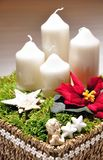 Christmas candle holder Stock Images
