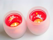 Christmas Candle Holders Stock Image