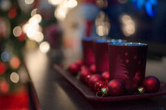 Christmas candle holders Stock Photography
