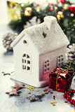 Christmas candle house Royalty Free Stock Photography