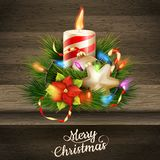 Christmas candle illustration. EPS 10 Stock Images