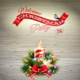 Christmas candle illustration. EPS 10 Royalty Free Stock Images