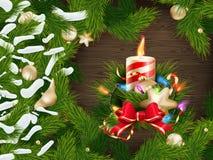 Christmas candle illustration. EPS 10 Royalty Free Stock Photos