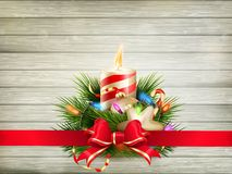 Christmas candle illustration. EPS 10 Stock Photo