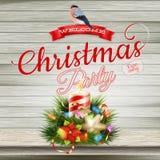 Christmas candle illustration. EPS 10 Stock Image