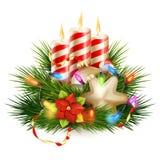 Christmas candle illustration. EPS 10 Royalty Free Stock Photo