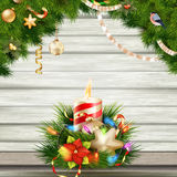 Christmas candle illustration. EPS 10 Royalty Free Stock Images