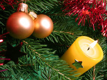 Christmas candle Stock Images