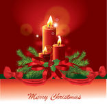 Christmas candle  image Stock Photo