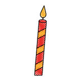 Christmas candle isolated icon. Vector illustration design Stock Photos