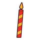 Christmas candle isolated icon. Vector illustration design Royalty Free Stock Photo