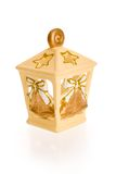 Christmas candle lantern Royalty Free Stock Image