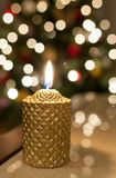 Christmas candle light Stock Photo