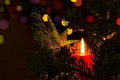 Christmas candle lights Royalty Free Stock Photo
