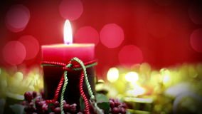 Christmas candle stock video