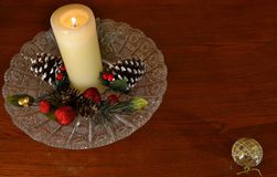 Christmas Candle - room for text-looks like a gift tag. You could put-- TO:  so&so    FROM:   so&so Stock Images