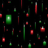 Christmas candle seamless background Stock Images