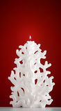 Christmas candle shaped like a Christmas tree Stock Image