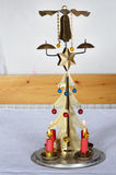 Christmas candle stick royalty free stock photo