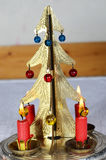 Christmas candle stick Stock Image