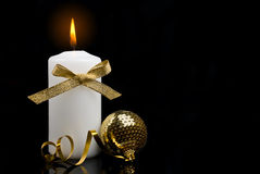 Christmas candle table setting Royalty Free Stock Image