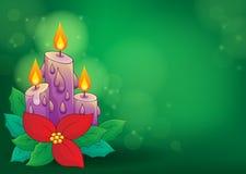 Christmas candle theme image 2 Stock Photography