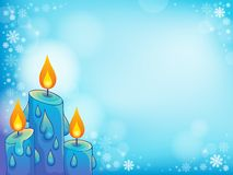 Christmas candle theme image 4 Royalty Free Stock Images