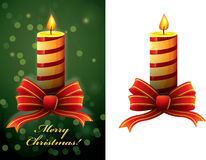 Christmas candle vector Royalty Free Stock Photography