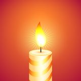 Christmas candle. Vector illustration. Stock Images