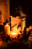 Christmas candlelight angel snow Royalty Free Stock Photos