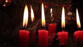 Christmas candlelight stock video