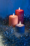 Christmas candles Royalty Free Stock Photography