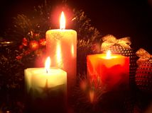 The Christmas Candles Royalty Free Stock Images