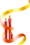 Christmas candles. Color illustration of Christmas candles Stock Photo