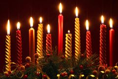 Christmas candles Stock Image