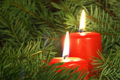 Christmas candles. Xmas candles stock photos