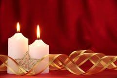 Christmas candles stock photography