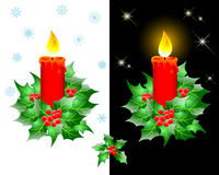 Christmas candles. Stock Images