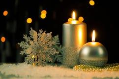 Christmas candles Royalty Free Stock Photos