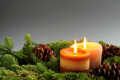 Christmas candles Stock Photo