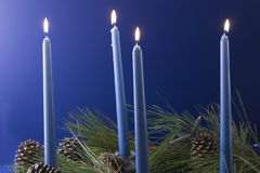 Christmas Candles Advent Blue Royalty Free Stock Photography