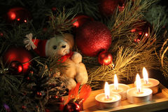 Christmas candles background Royalty Free Stock Photos
