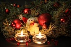 Christmas candles background Stock Image