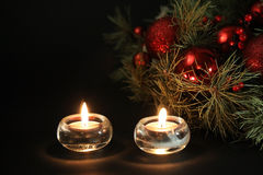 Christmas candles background Royalty Free Stock Photo