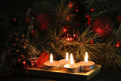 Christmas candles background Royalty Free Stock Photography