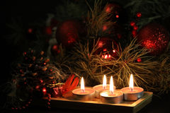 Christmas candles background Royalty Free Stock Images