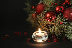 Christmas candles background Stock Photo