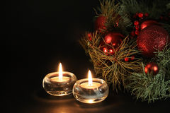 Christmas candles background Stock Photography