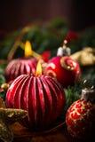 Christmas candles Stock Photo