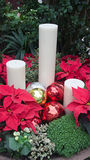 Christmas candles and balls Stock Photos